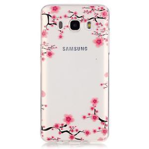 Průhledný obal na mobil Samsung Galaxy J5 (2016) - kvetoucí švestka - 2