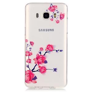 Průhledný obal na mobil Samsung Galaxy J5 (2016) - kvetoucí větvička - 2