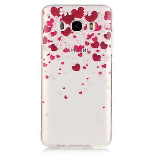 Průhledný obal na mobil Samsung Galaxy J5 (2016) - srdčíka - 2