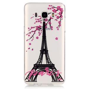 Průhledný obal na mobil Samsung Galaxy J5 (2016) - Eiffelova věž - 2