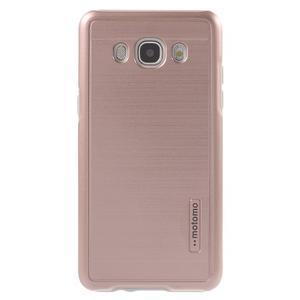 Gelový obal s plastovou výstuhou na Samsung Galaxy J5 (2016) - růžový - 2