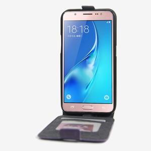 Flipové pouzdro na mobil Samsung Galaxy J5 (2016) - fialové - 2
