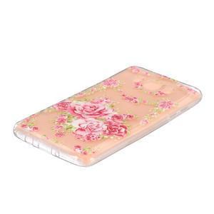 Transparentní gelový obal na Samsung Galaxy J5 (2016) - květiny - 2