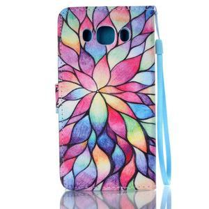 Etny pouzdro na mobil Samsung Galaxy J5 (2016) - barevné květy - 2