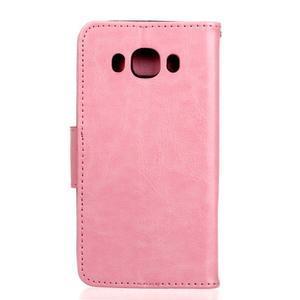 Wall PU kožené pouzdro na Samsung Galaxy J5 (2016) - růžové - 2