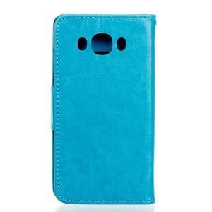 Wall PU kožené pouzdro na Samsung Galaxy J5 (2016) - modré - 2