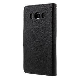 Routy PU kožené pouzdro na Samsung Galaxy J5 (2016) - černé - 2