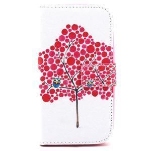 Knížkové pouzdro na mobil Samsung Galaxy S3 - strom soviček - 2