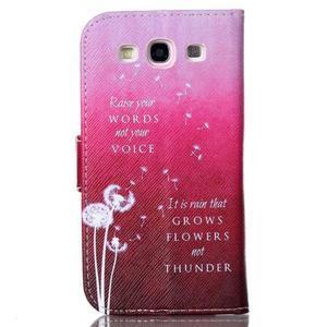 Emotive peněženkové pouzdro na Samsung Galaxy S3 - pampelišky - 2