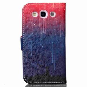 Emotive peněženkové pouzdro na Samsung Galaxy S3 - meteory - 2