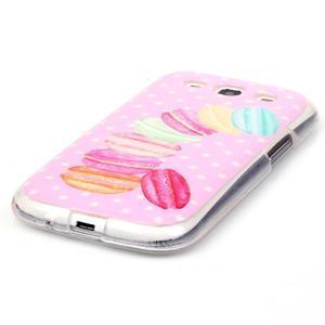 Gelový obal na mobil Samsung Galaxy S3 - makrónky - 2