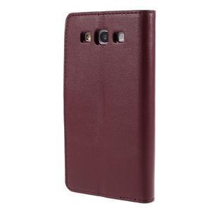 Diary PU kožené pouzdro na mobil Samsung Galaxy S3 - vínové - 2