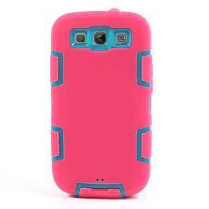 Odolné silikonové pouzdro na mobil Samsung Galaxy S3 - rose - 2