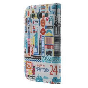 Knížečkové pouzdro na Samsung Galaxy S3 - New York - 2