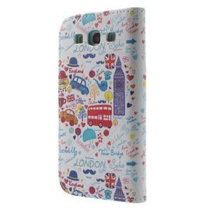 Knížečkové pouzdro na Samsung Galaxy S3 - Londýn - 2