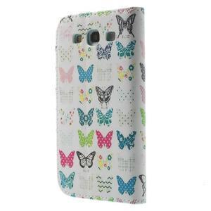 Knížečkové pouzdro na Samsung Galaxy S3 - motýlci - 2