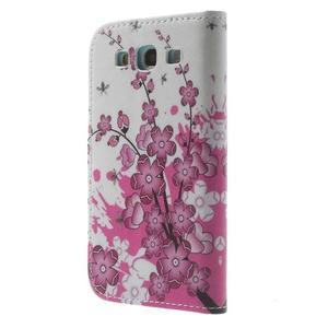 Knížečkové pouzdro na Samsung Galaxy S3 - kvetoucí větvička - 2