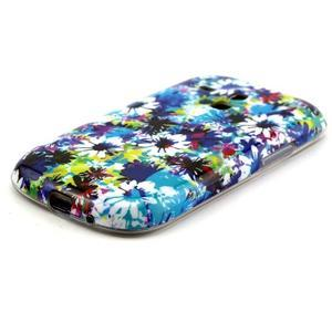 Gelový obal na mobil Samsung Galaxy S3 mini - barevné květiny - 2