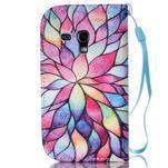 Knížkové PU kožené pouzdro na Samsung Galaxy S3 mini - barevné květy - 2/7