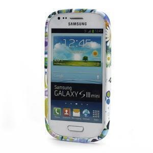 Emotive gelový obal na Samsung Galaxy S3 mini - barevné květiny - 2