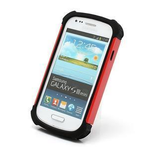 Outdoor odolný obal na mobil Samsung Galaxy S3 mini - červený - 2
