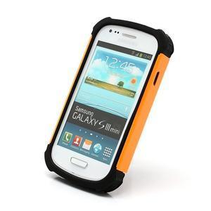 Outdoor odolný obal na mobil Samsung Galaxy S3 mini - oranžový - 2