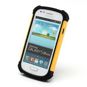 Outdoor odolný obal na mobil Samsung Galaxy S3 mini - žlutý - 2