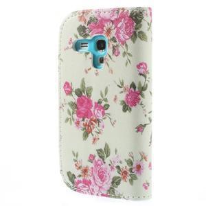 Knížkové pouzdro na mobil Samsung Galaxy S3 mini - květinová koláž - 2