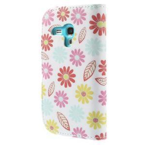 Knížkové pouzdro na mobil Samsung Galaxy S3 mini - květiny - 2