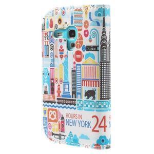 Knížkové pouzdro na mobil Samsung Galaxy S3 mini - New York - 2