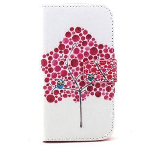 Standy peněženkové pouzdro na Samsung Galaxy S4 - soví strom - 2