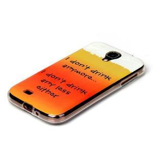 Softy gelový obal na mobil Samsung Galaxy S4 - drink - 2
