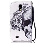 Knížkové koženkové pouzdro na Samsung Galaxy S4 - lebka - 2/7
