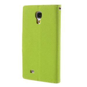Sunny PU kožené pouzdro na mobil Samsung Galaxy S4 - zelené - 2