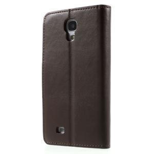 Diary PU kožené pouzdro na mobil Samsung Galaxy S4 - coffee - 2