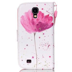 Knížkové koženkové pouzdro na Samsung Galaxy S4 - flower - 2
