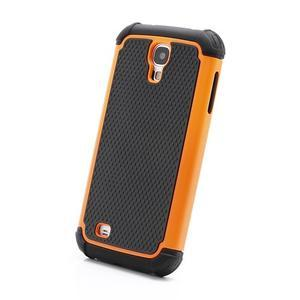 Outdoor odolný silikonový obal na Samsung Galaxy S4 - oranžový - 2