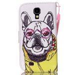 Knížkové koženkové pouzdro na Samsung Galaxy S4 - buldog - 2/7