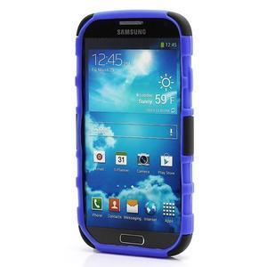 Odolný ochranný silikonový kryt na Samsung Galaxy S4 - modrý - 2