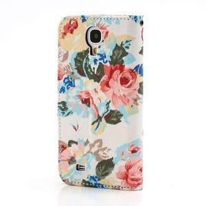 Květinové pouzdro na mobil Samsung Galaxy S4 - bílé pozadí - 2