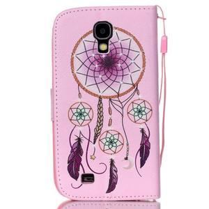 Knížkové koženkové pouzdro na Samsung Galaxy S4 - lapač snů - 2
