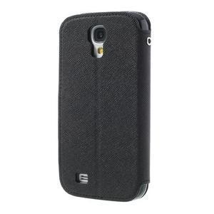 Okýnkové peněženkové pouzdro na mobil Samsung Galaxy S4 - černé - 2
