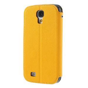 Okýnkové peněženkové pouzdro na mobil Samsung Galaxy S4 - žluté - 2