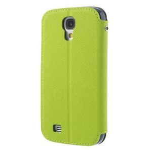 Okýnkové peněženkové pouzdro na mobil Samsung Galaxy S4 - zelené - 2