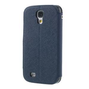 Okýnkové peněženkové pouzdro na mobil Samsung Galaxy S4 - tmavěmodré - 2