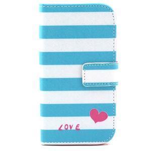 Standy peněženkové pouzdro na Samsung Galaxy S4 - love - 2