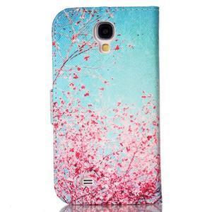 Emotive peněženkové pouzdro na Samsung Galaxy S4 mini - kvetoucí švestka - 2