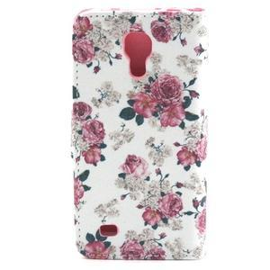 Pouzdro na mobil Samsung Galaxy S4 mini - květiny - 2