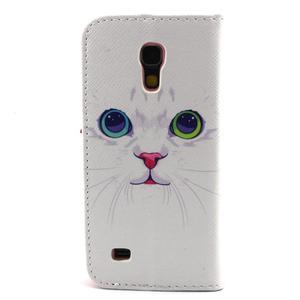 Diaryleather pouzdro na mobil Samsung Galaxy S4 mini - kočička - 2