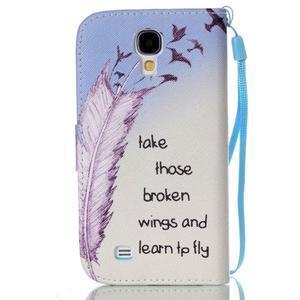 Diary peněženkové pouzdro na mobil Samsung Galaxy S4 mini - ptáčci - 2